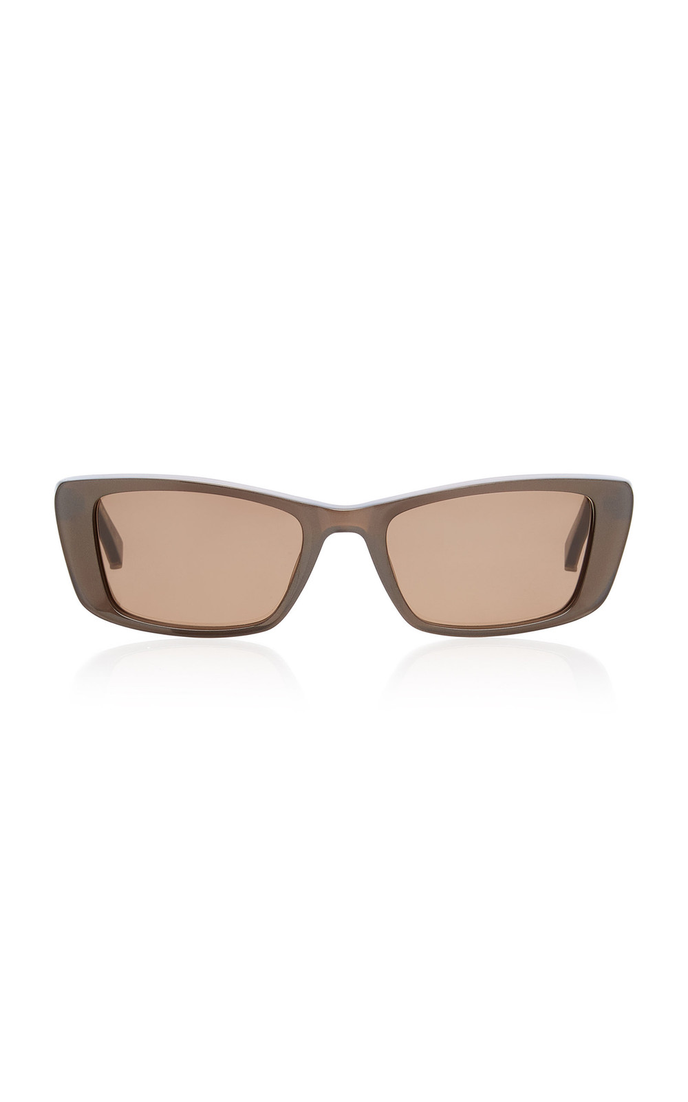 Kate Young Ines Square-Frame Acetate Sunglasses in brown
