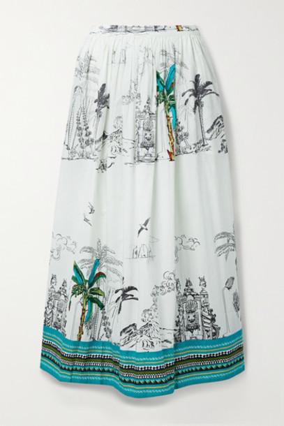Le Sirenuse Positano - New Jane Printed Cotton Maxi Skirt - White