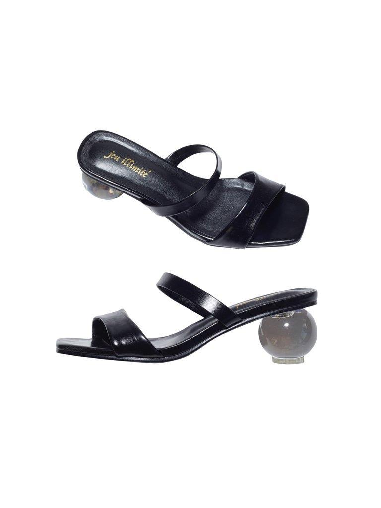 Natalie Plexi-Globe Heels