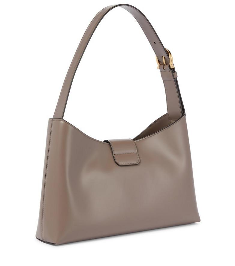 Salvatore Ferragamo Leather shoulder bag in grey