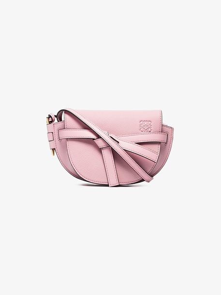 Loewe mini Gate cross-body bag in pink