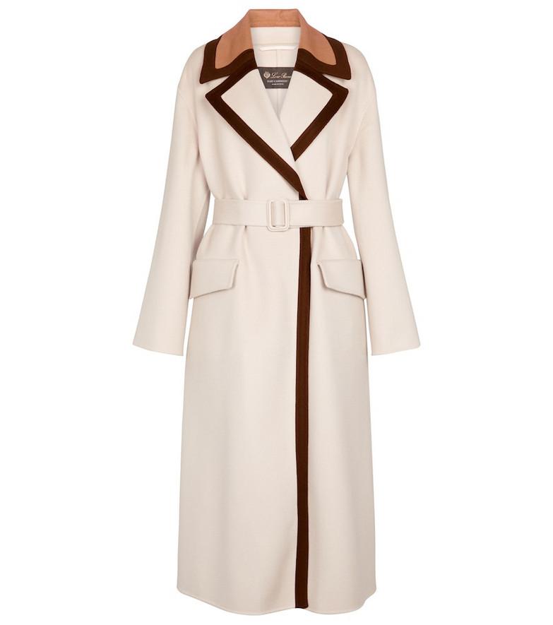 Loro Piana Turner baby cashmere coat in white
