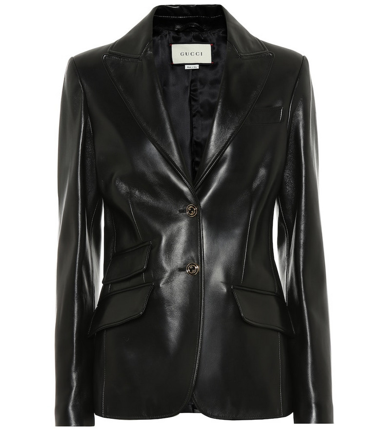 Gucci Leather blazer in black