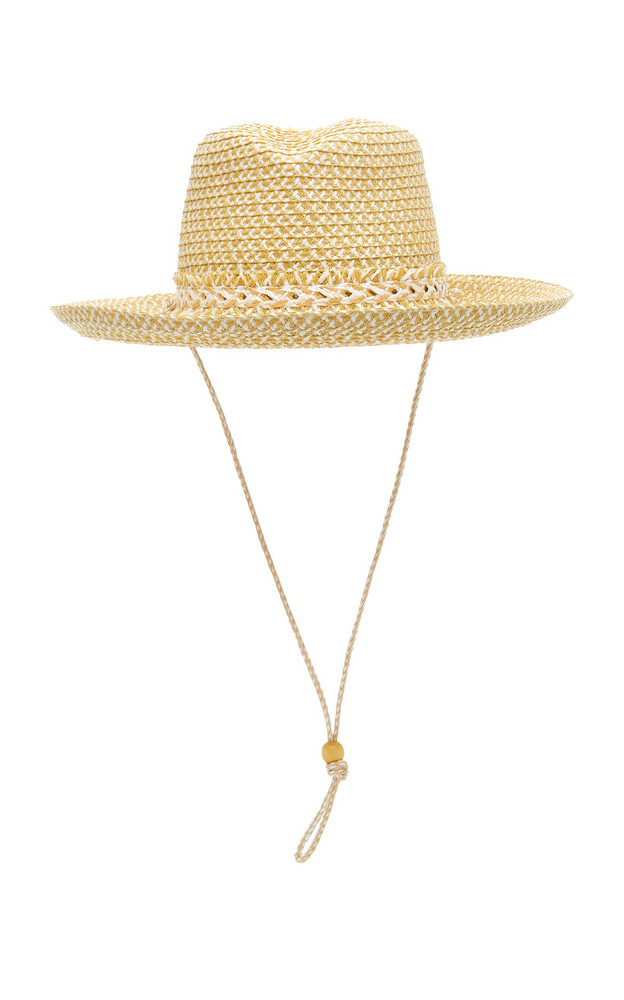 Eric Javits Tucson Woven Cowboy Hat in white
