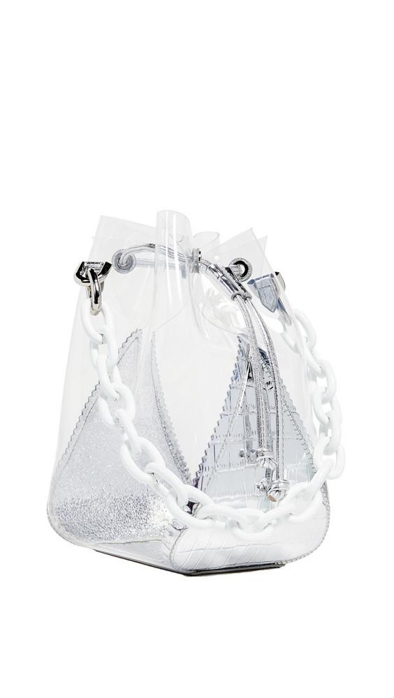 THE VOLON Mani Mini Bucket Bag in silver