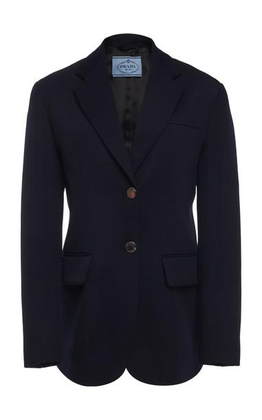 Prada Tailored Wool Blazer in navy