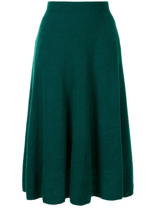 Onefifteen a-line pleated skirt in green