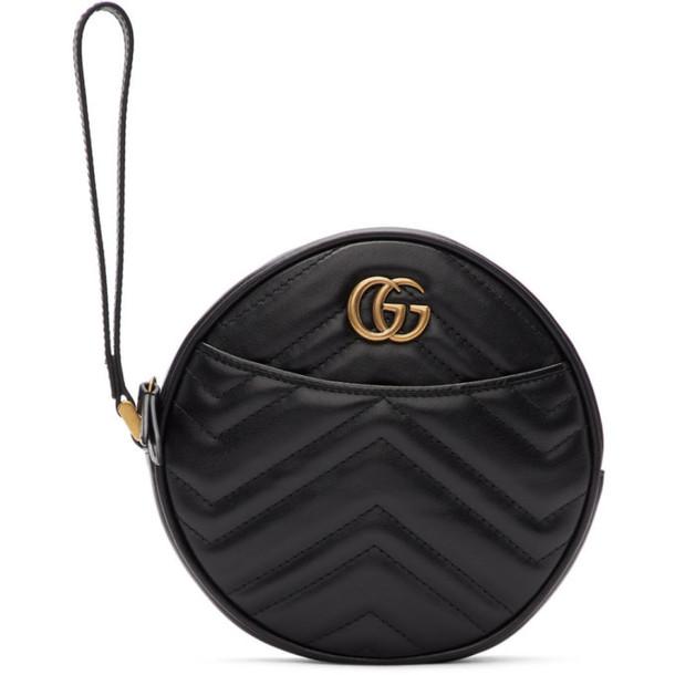 Gucci Black GG Marmont 2.0 Clutch