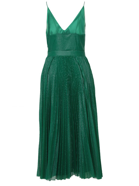 Sequinned Midi Dress Msgm in green