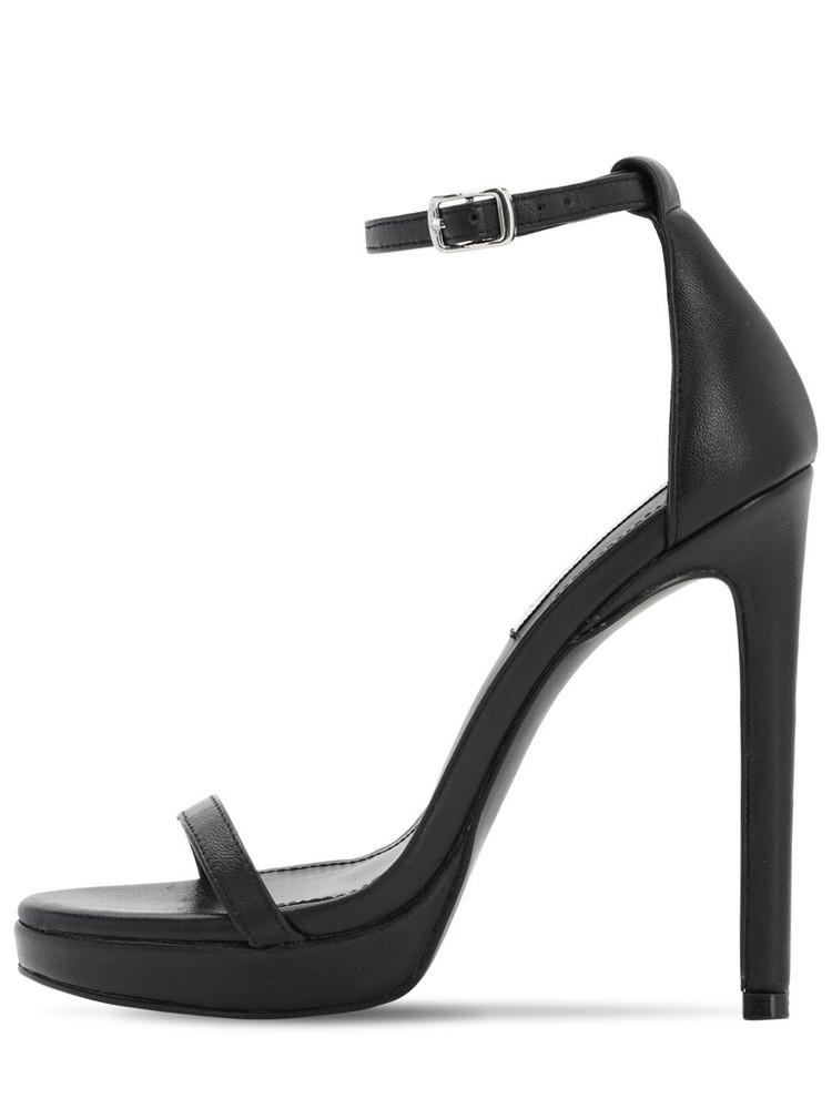 STEVE MADDEN 120mm Leather Sandals in black
