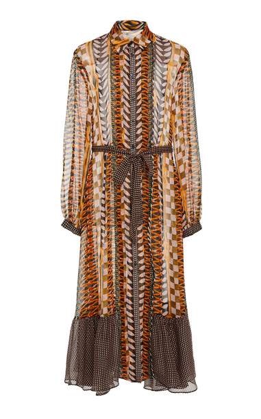 Temperley London Sweetpea Silk Shirt Dress in print