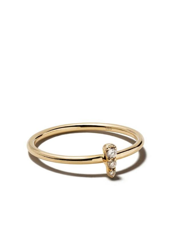 Astley Clarke mini 'Interstellar' diamond ring in metallic