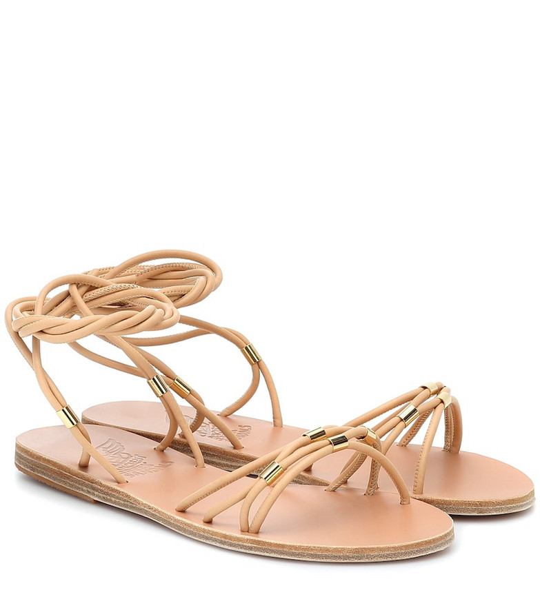Ancient Greek Sandals Persida leather sandals in beige