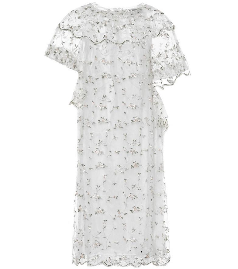 Simone Rocha Floral tulle dress in white