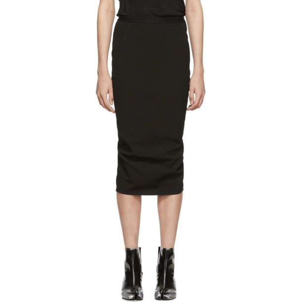 Rick Owens Black Soft Pillar Short Skirt