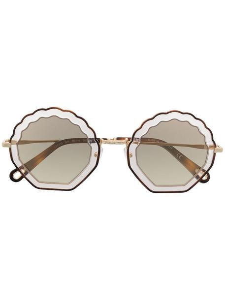 Chloé Eyewear Rosie round sunglasses in gold