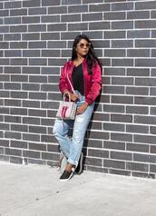 the-colorpalette,blogger,jacket,t-shirt,shoes,jeans,bag