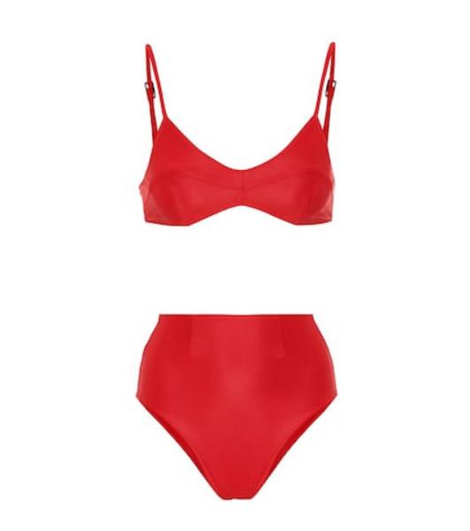 Haight Beca high-rise triangle bikini in red