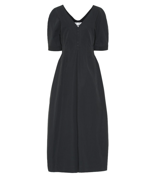 Jil Sander Cotton gabardine midi dress in grey