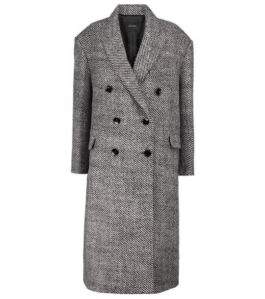 Isabel Marant Lojimiko oversized wool coat in grey