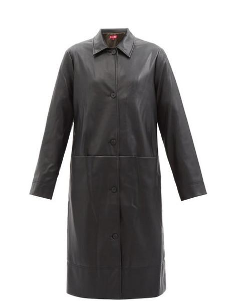 Staud - Maura Faux-leather Coat - Womens - Black