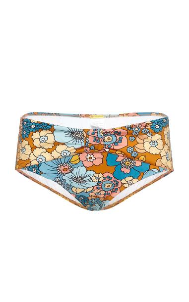 DoDo Bar Or Linda Belted Bikini Bottom in print