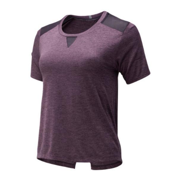 New Balance 93270 Women's Impact Run Mesh Short Sleeve - Purple (WT93270IV2)