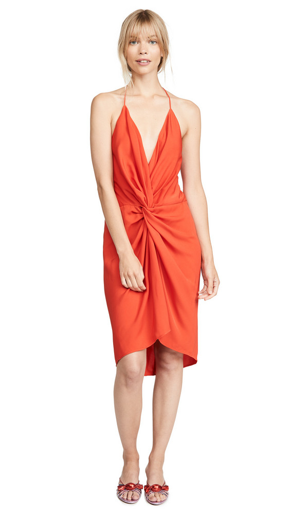 Acler Jenkins Twist Dress in red