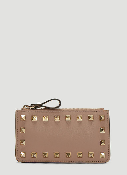 Valentino Rockstud Coin Purse in Pink size One Size