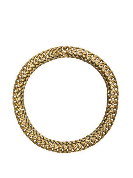 Julie De Libran - Antiqued Chain Choker - Womens - Gold
