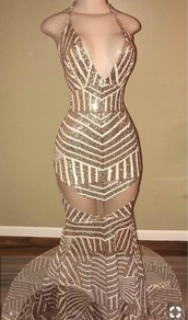 dress,gold,rose gold,prom dress,sequins,low back,formal dress,mermaid prom dress