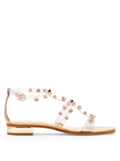 Sophia Webster - Dina Crystal Studded Sandals - Womens - Gold