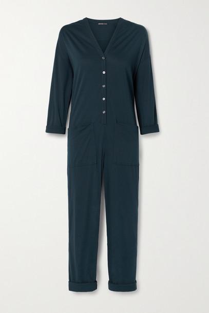 JAMES PERSE - Lotus Cotton-jersey Jumpsuit - Blue