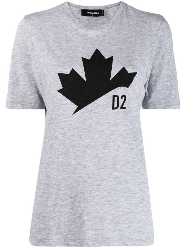 Dsquared2 logo-print short-sleeved T-shirt in grey
