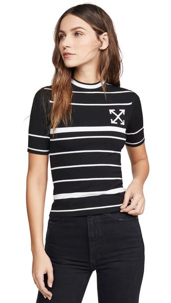 Off-White Knit Basic Arrow T-Shirt in black