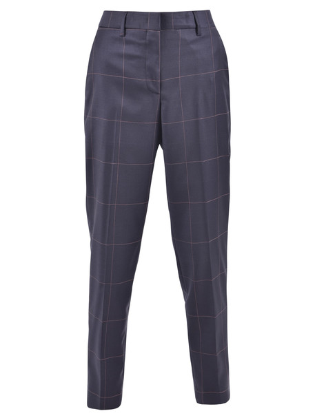Paul Smith Checked Trousers in blue