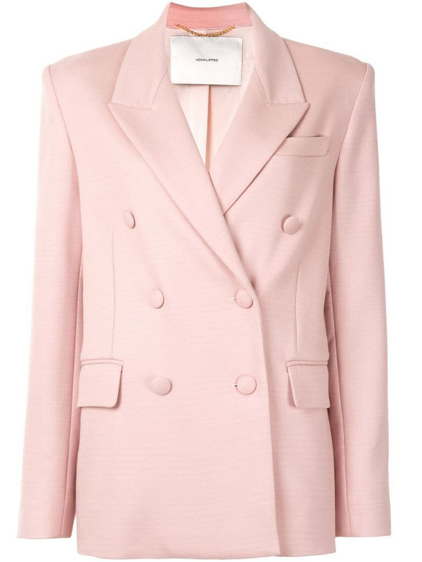 Adam Lippes double-breasted blazer in pink