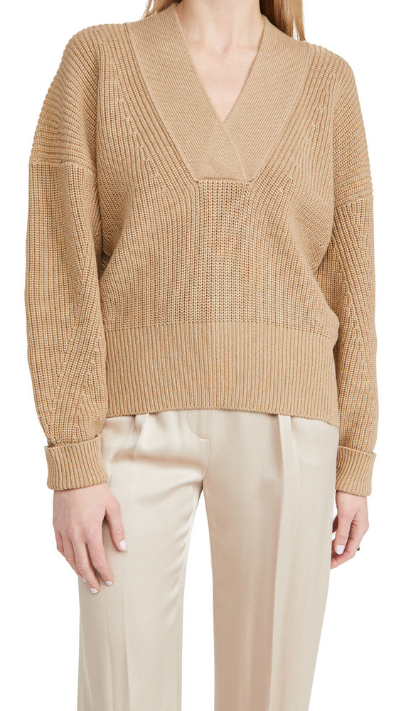 Brochu Walker Gene Vee Sweater in camel