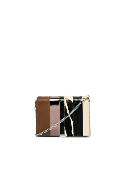 ALLSAINTS Captain Multi Flap Shoulder Bag in brown