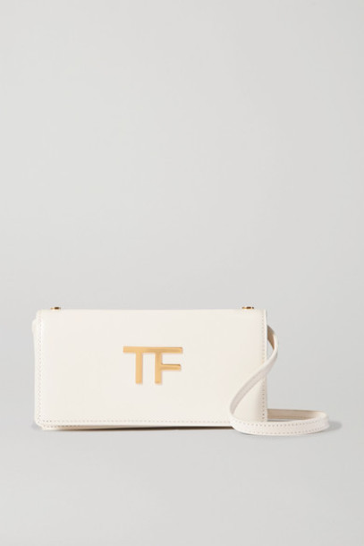 TOM FORD - Mini Leather Shoulder Bag - White