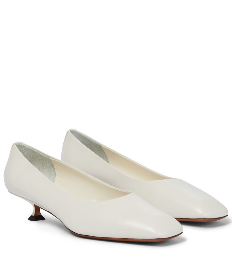 The Row Sharp leather pumps in white