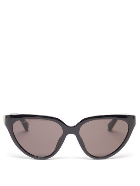 Balenciaga - Side Cat Cat-eye Acetate Sunglasses - Womens - Black