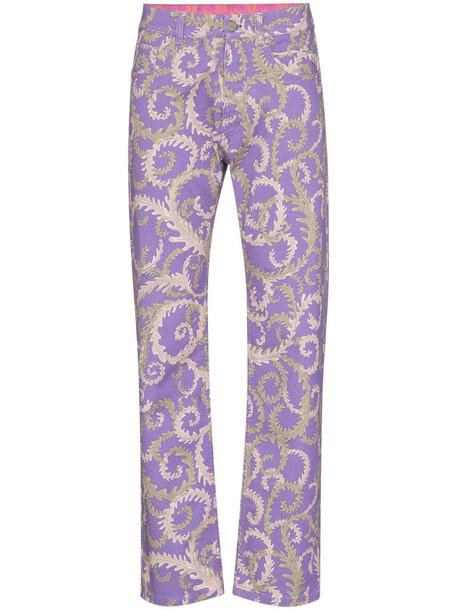 Emilio Pucci x KOCHÉ Selva-print jeans in purple