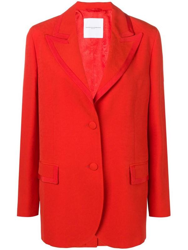 Ermanno Scervino peaked lapel blazer in red