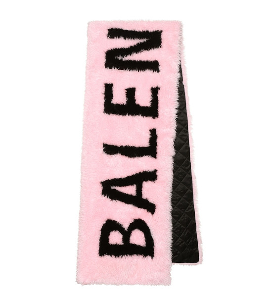 Balenciaga Giant faux fur scarf in pink