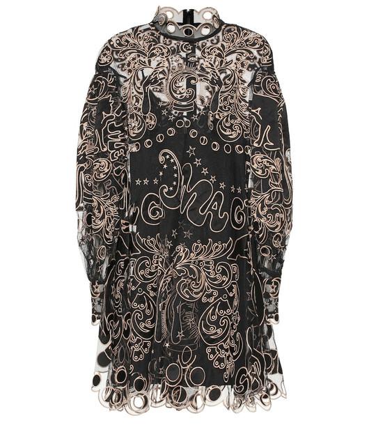 Zimmermann Ladybeetle Fortune tulle minidress in black