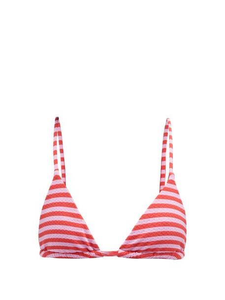 Casa Raki - Cindy Striped Bikini Top - Womens - Red Stripe