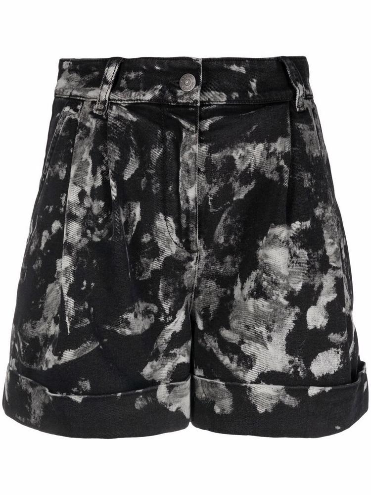 P.A.R.O.S.H. P.A.R.O.S.H. abstract-print high-waisted shorts - Black