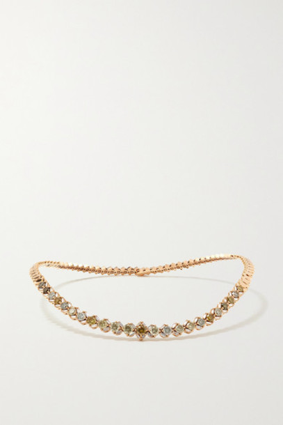 Suzanne Kalan - 18-karat Rose Gold Diamond Necklace