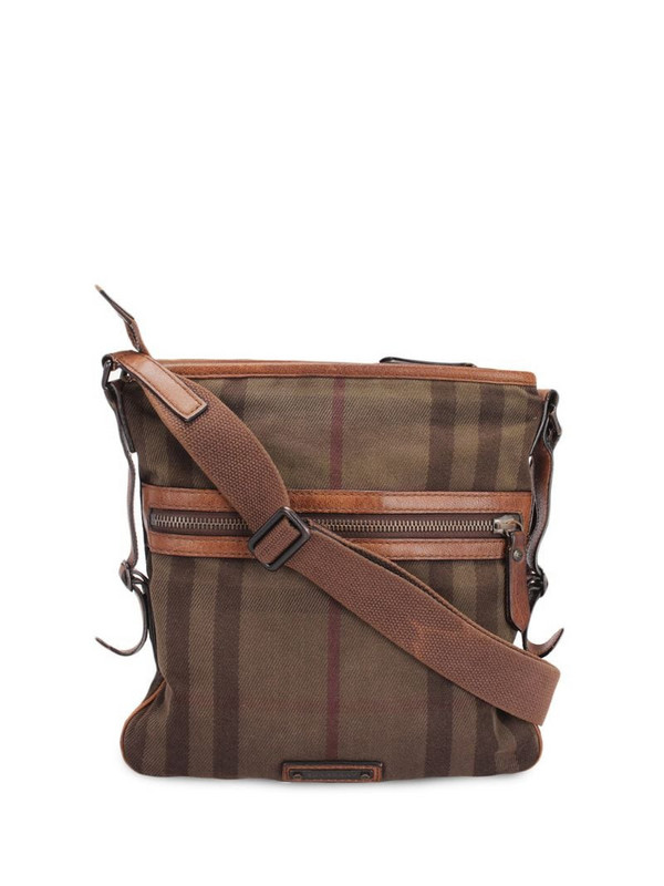 Burberry Pre-Owned House check crossbody bag in brown